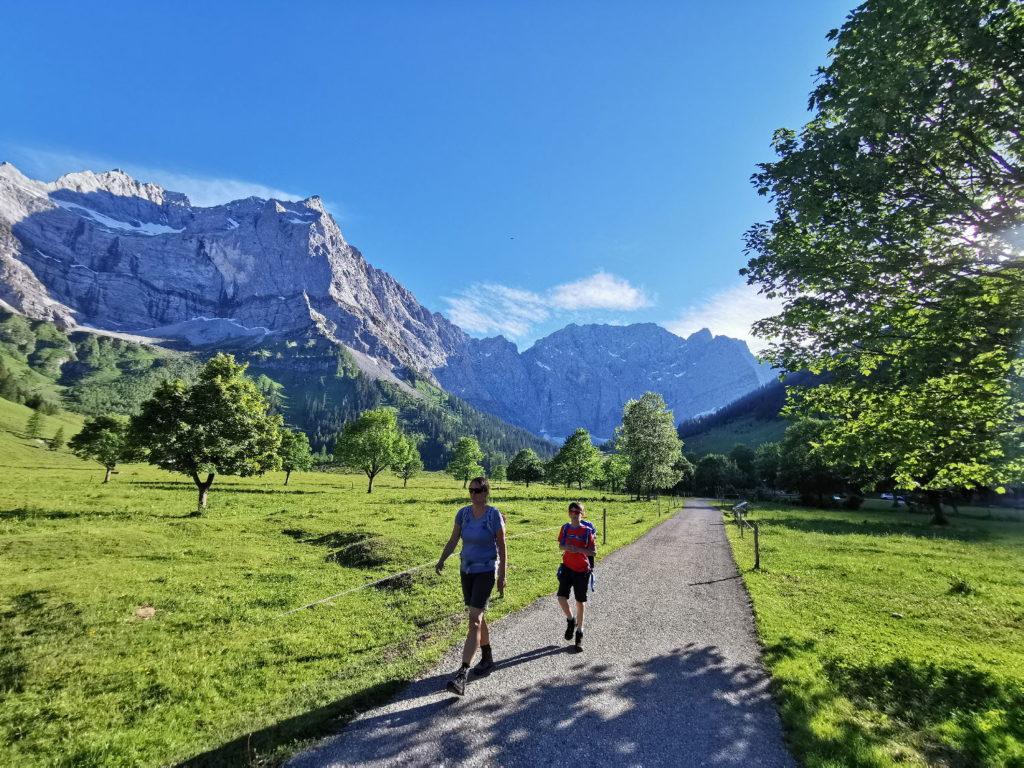 Österreich Sehenswürdigkeiten zum Wandern: Das Karwendel und der Ahornboden