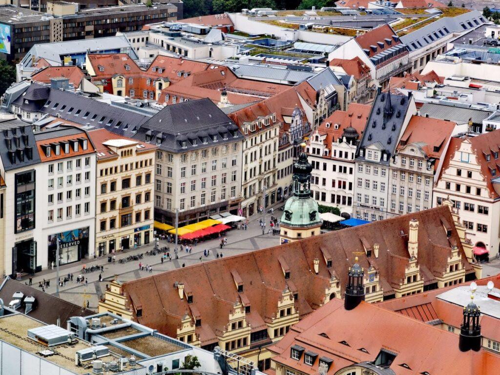 Leipzig Sehenswürdigkeiten - die historische Altstadt von oben