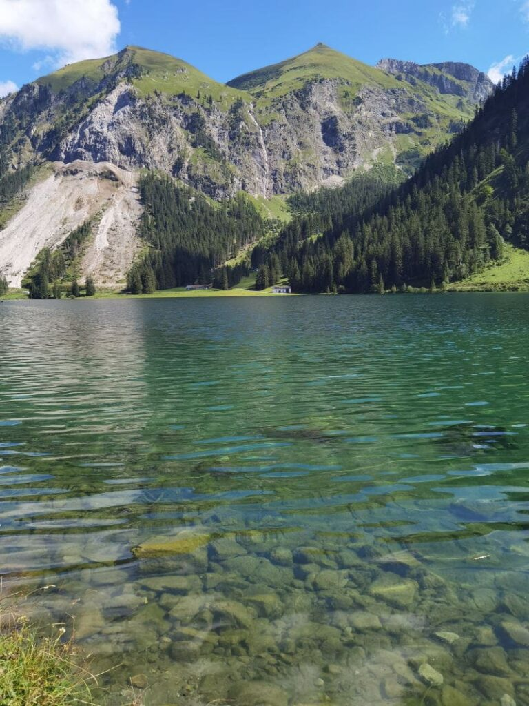 Österreich Sehenswürdigkeiten in der Natur: Der Vilsalpsee im Tannheimer Tal